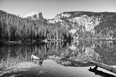 Photograph - Bear Lake - Black And White by Harold Rau