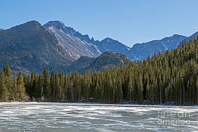 Photograph - Bear Lake In Inter In Rocky Mountain National Park by Fred Stearns