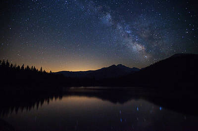 Rocky Mountain National Park Photograph - Bear Lake Milky Way by Darren  White