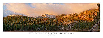 Panoramic Photograph - Bear Lake Rocky Mountain National Park by Posters of Colorado