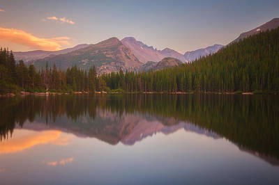 Colorado Sunset Photograph - Bear Lake Sunset Reflections by Darren  White