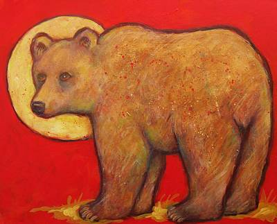 Painting - Bear Looks Back by Carol Suzanne Niebuhr