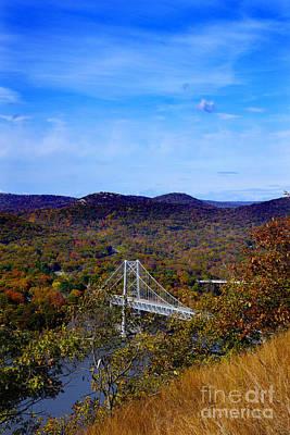 Bear Mountain Bridge From Camp Smith Trail Art Print