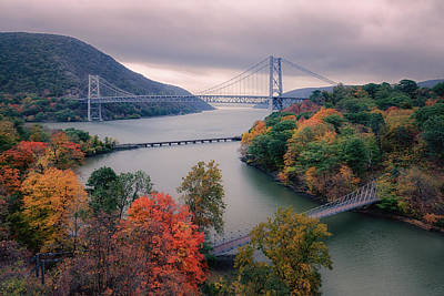 World War 2 Action Photography Royalty Free Images - Bear Mountain Bridge Royalty-Free Image by Joan Carroll