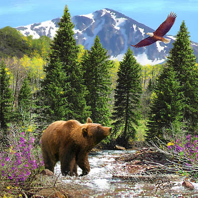 Soaring Painting - Bear Necessities Ill by Doug Kreuger