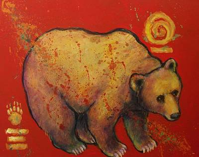 Painting - Bear Paw Grizzly Bear by Carol Suzanne Niebuhr