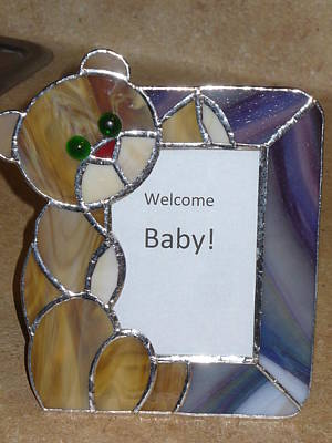 Glass Art - Bear Picture Frame by Karin Thue