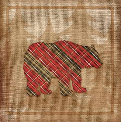 Bear Plaid Art Print