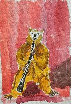 Bear Playing Clarinet  Original by James George
