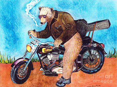 Mixed Media - Bear Rider by Deanna Yildiz