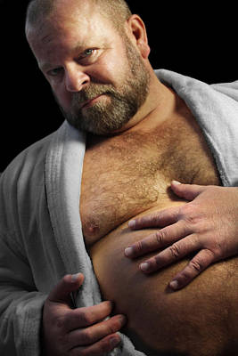 Chest Photograph - Bear Robe by Bear Pictureart