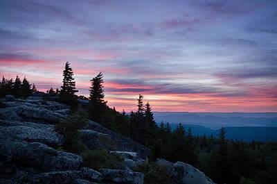 Summer Photograph - Bear Rocks Dawn by Benjamin DeHaven