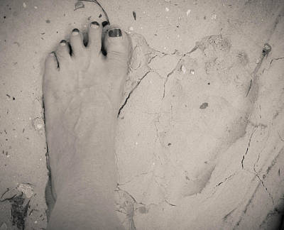 Photograph - Bear Track My Foot by Christy Usilton