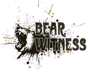 Digital Art - Bear Witness Minimalist Poster by Celestial Images