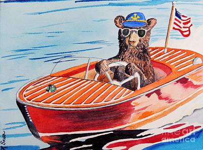 Painting - Bearboat by LeAnne Sowa