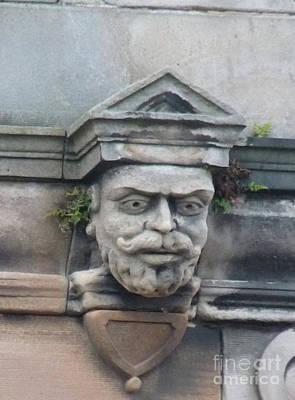Carving Photograph - Bearded Gargoyle by Deborah Smolinske