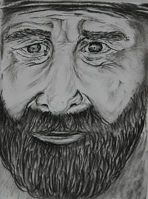 Paul Morgan Painting - Bearded Man by Paul Morgan