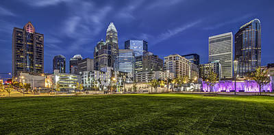 Charlotte Skyline Photograph - Bearden Park by Chris Austin