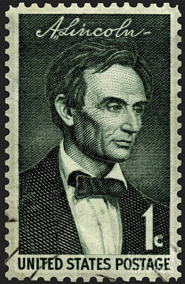 Photograph - Beardless Abraham Lincoln Commemorative Stamp by Phil Cardamone