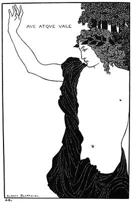 Drawing - Beardsley Ave Atque Vale by Granger