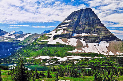 Glacier National Park Photograph - Bearhat Mountain by Greg Norrell