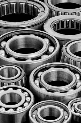 Polished Steel Photograph - Bearings by Jim Hughes