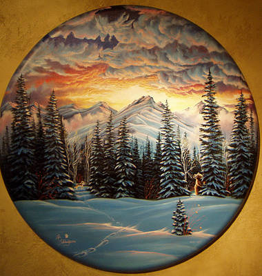 Snow Painting - Bearly Light by Lori Salisbury