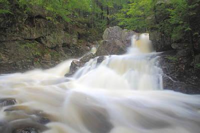 Photograph - Bear's Den Waterfall Swift River Spring Rain by John Burk