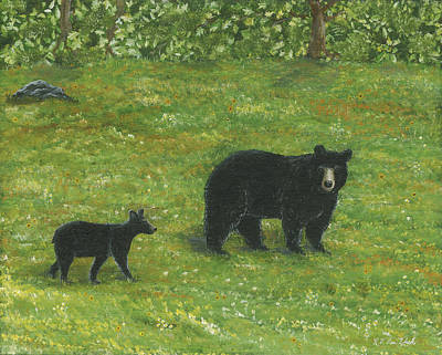 Painting - Bears by Lucinda VanVleck