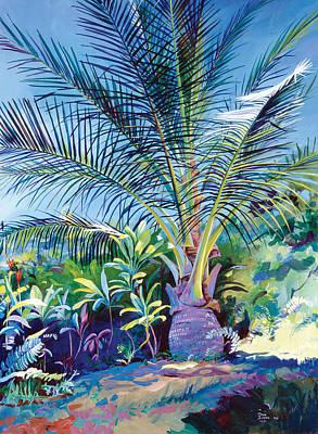 Bears Palm Tree Heulo Maui Hi Art Print by Don Jusko