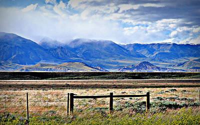 Beartooth Mountain Range Photograph - Beartooth And Light Showers by Lisa Holland-Gillem