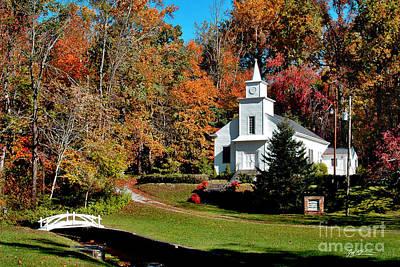 Asheville Digital Art - Bearwallow Baptist Church by Jeff McJunkin