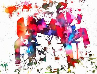 Beastie Boys Paint Splatter Art Print