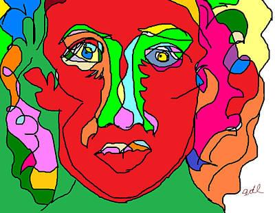 Abstract Digital Drawing - Beat by Anita Dale Livaditis