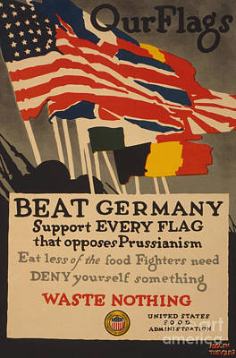 1910s Painting - Beat Germany by Adolph Treidler