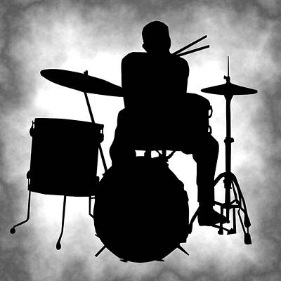 Drum Set Digital Art - Beat Master by Daniel Hagerman