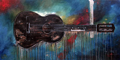 Music Paintings - Bob Marleys First by Sean Parnell