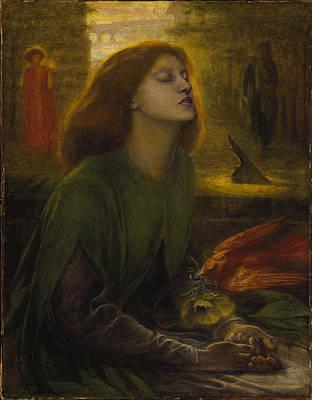 Beata Painting - Beata Beatrix 1870 by Philip Ralley