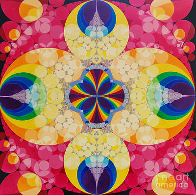 Chakra Rainbow Painting - Beatific by Nofirstname Aurora