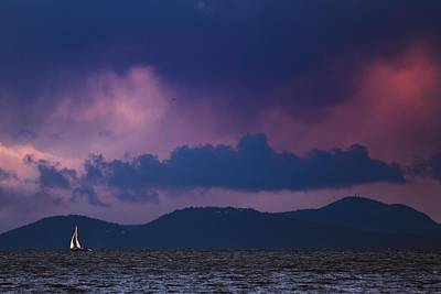 Locust Sunset Photograph - Beating The Storm by Paul Conrad