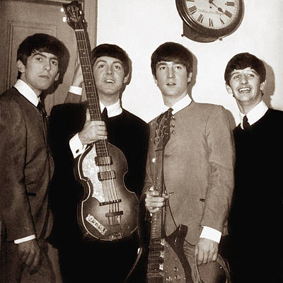 Photograph - Beatles 1963  by Chris Walter