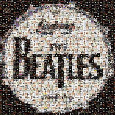 Drum Kit Mixed Media - Beatles Albums Mosaic by Paul Van Scott