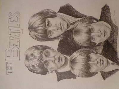 Mccartney Drawing - Beatles by Chelsea Simunek