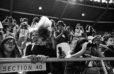 Shea Stadium Photograph - Beatles Concert by Van D. Bucher