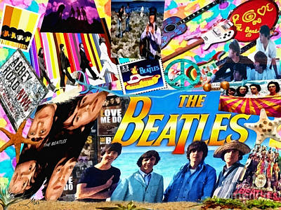 Vivid Digital Art - Beatles For Summer by Mo T