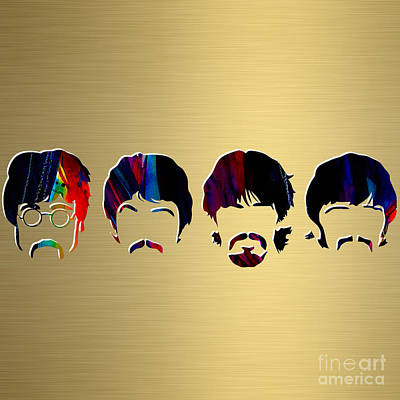 Beatles Gold Series Print by Marvin Blaine