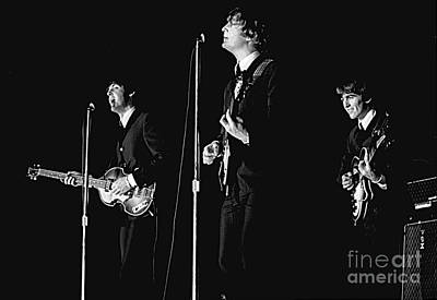 Beatles In Concert, 1964 Art Print by Larry Mulvehill