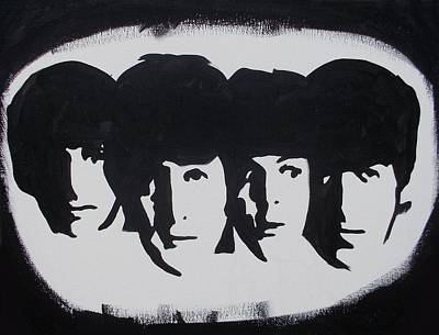 Painting - Beatles In Spotlight by Marisela Mungia