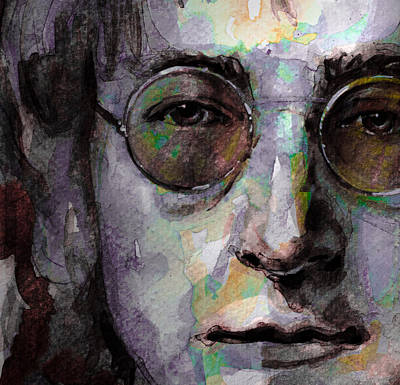 Beatles - John Lennon Art Print by Laur Iduc