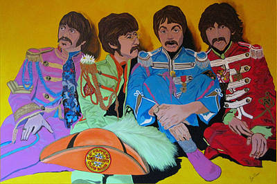 Beatles-lonely Hearts Club Band Art Print by Bill Manson